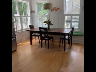 Dining area....happily enjoy sunny breakfasts with lots of natural light