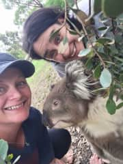 Selfies with our local Koala.