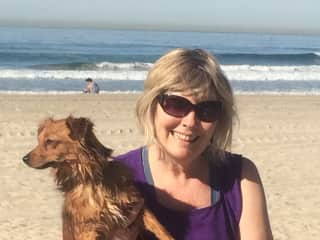 Grandpup and I in San Diego.