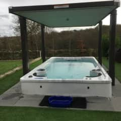 Exercise pool perfect for sitting in an evening star watching