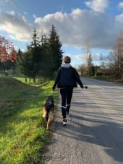 Daily afternoon walk is a must!