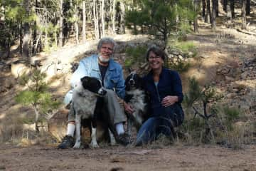 Exploring the Santa Fe National Forest with Willow and Shiloh.