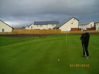 Golfing (badly) in Scotland in January.