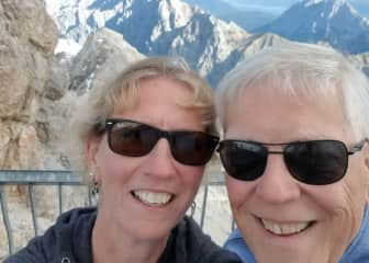 Atop the Zugspitze in Germany
