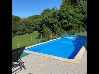 Our pool - currently only available to use in the summer