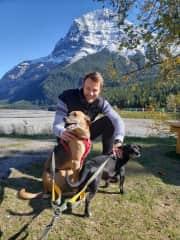 Walking dogs in Rockies