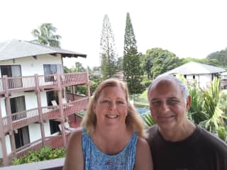 Steve and Kathy Sommers in Princeville Kauai December 2019