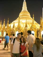 My wife and I in Myanmar