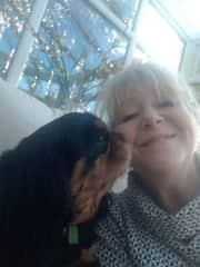 Feeling the love! Petsitting in Northumberland, just before lockdown, 2020.
