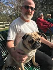 Dog park buddy with Mark Tauster
