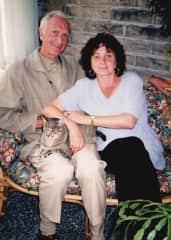 My husband Alex, myself and wombat many years ago.