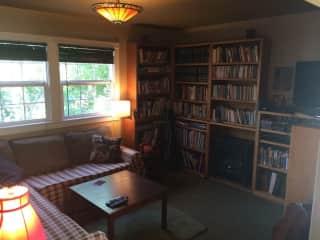 our cozy TV living room