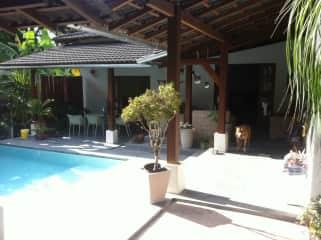 main house & pool