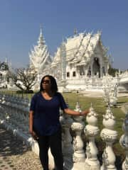 Me at White Temple in Chiang Rai, Thailand.