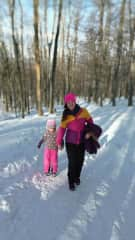 Just two of us on winter on czech mountains