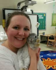 Me with my class pet, Sophia!