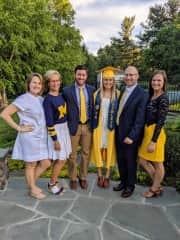 (Most) of my immediate family celebrating my youngest sister's graduation from U of M