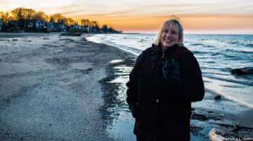Kris enjoying winter on Lake Ontario