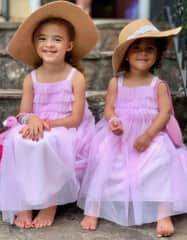 Our girls love dressing up!