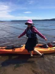 Lyn kayaking