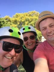 I love to hang out with family. Cyling with my sister and brother in law