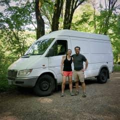 Sara, Rafael and our van!