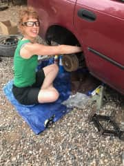 I do some of my own car work, this time, replacing back struts. Success!