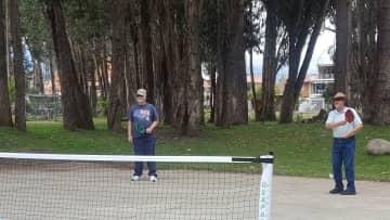 Ken playing Pickleball in Cuencas Eucador 2018
