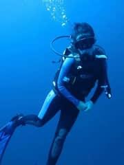Me scuba diving in Maluku, Indonesia