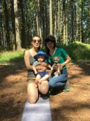 Me and my cousin with our respective babies!