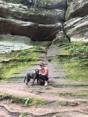 Lasky joined us in Hocking Hills