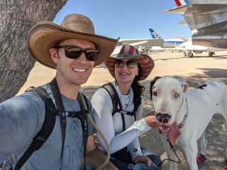 A family photo at Pima Air and Space Museum