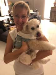 My hairdressers dog  that I petsit weekly