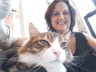 Selfies are fun with cats!