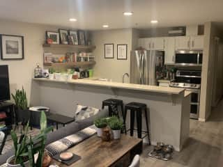 Office/living room/kitchen