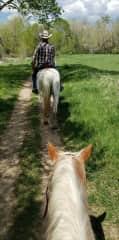 Horseback riding in Colorado.