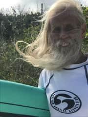 Grand Legend Surfer Wes Beck.