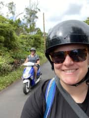Scooting around in Faial, Azores.