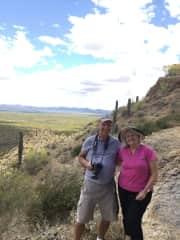 Allan and Allan in the Sonoran Desert