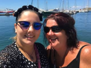 Kalika and Charlene - Greece 2017