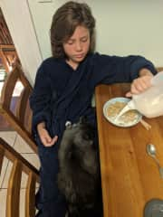 this is my son and our cat Hazel