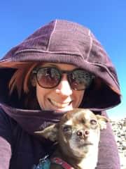 My wonderful dog Jacques & I.