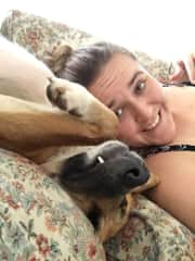 Me and my foster puppy Bailey when I lived in Indonesia