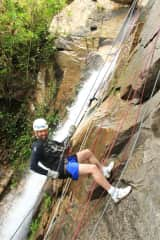 Don is rappelling in Mexico!
