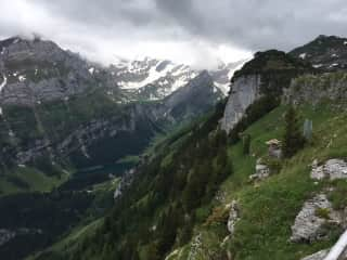 Hiking Swiss Alps with a friend