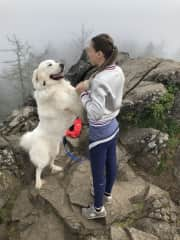 Mary and Falkor on a hike!