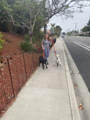 Daily walks with sweet Moxie & Ruby in San Diego county!
