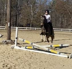 """The happy jumping elf """"Keebler"""" and I last summer."""