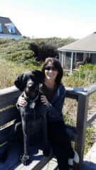 Bev and Ellie up at Pawley's Island enjoying the beach!