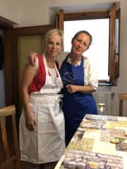 Making pasta in Florence where I lived for two years teaching English! Cooking with Carlotta 🇮🇹